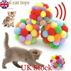 Funny Soft Kitten Cat Toy Plush Ball Pet Dog Toys Balls Interactive Assorted FF