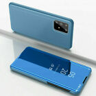 Mirror Flip Case Samsung Galaxy S20+ FE Note 20 Ultra Leather Phone Stand Cover