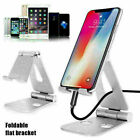 Foldable Aluminum Alloy Desk Stand Adjustable Holder For Tablet Cell Phone 4-13""