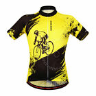 Men's Short Sleeve Cycling Jersey Padded Shorts Set Sleeveless Vest Breathable