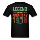 Legend Since February 1976 Retro Birthday Gift funny Unisex Classic T-Shirt