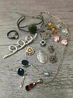 Sterling Silver Mixed Jewelry Lot Stones Heart