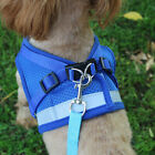 Small Dog Breathable Mesh harness Vest Collar soft chest strap XS-XL Leash set