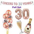 30th Birthday Decorations Rose Gold, 30th Balloons, Cheers to 30 Banner, Number