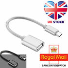 USB Type C to USB A Female OTG On The Go USB Host Adapter Cable All Laptop Mobil