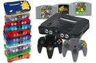 Nintendo 64/N64 Console + 1 2 3 4 Controller,Cable,Power Supply & Game Classic