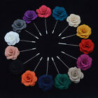 Men Corsage Groom Boutonniere Pin Wedding Lapel Flower Brooches Suits Decoration