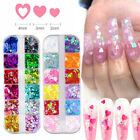 Nail Glitter Sequins Holographic Laser Love Heart Flakes Nail Art 3D Decoration