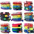 100Pcs Dog Cat Accessories Nylon Multi Colored Buckle Safety Puppy Collar Bell