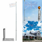 Aluminum Telescopic Flag Pole Wall Mounted Flagpole/  Flag Pole Mount Holder