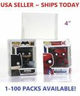 "Lot 5 20 50 100 Collectibles Funko Pop Protector Case for 4"" inch Vinyl Figures"