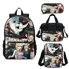 Dangan Trigger Happy Havoc Kids School Backpack Insulated Lunch Bag Pen Case Lot