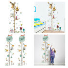 Kids Toddler Height Chart Wall Sticker Measuring Ruler Home Room Decoration
