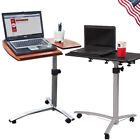 Mobile Rolling Laptop Desk PC Cart Stand Height Adjustable Computer Laptop Table