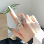 USA Women Girls 925 Sterling Silver Snake Opening Adjustable Ring Jewellery Gift