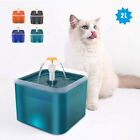 Automatic Pet Dog Cat Water Fountain Auto USB LED Fresh Drinking Dispenser Bowl