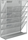 EasyPAG Mesh Wall File Holder 5 Tier Vertical Mount / Hanging Organizer with Bot