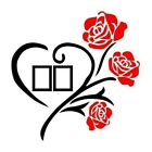 .family Love Rose Wall Decals 3d Diy Photo Frame Wall Stickers Mural Home-decor.