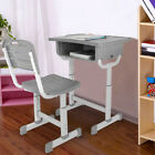 Kids Desk And Chair Set Height Adjustable Ergonomic Study School Writing Desk