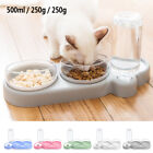 Tilted Cat Bowl set for Food and Water Raised Elevated Pet Dog Feeding Dispenser