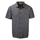 Vans Men's Charcoal Grey Tone Check S/S Woven Shirt Retail 40