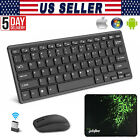 2.4G Optical Wireless Slim Keyboard and Mouse USB Receiver Kit For PC Laptop US
