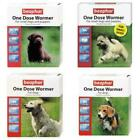 BEAPHAR ONE DOSE WORMER Worming Roundworm Tapeworm Dog Puppy Treatment Tablets