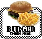 Burger Combo Meals DECAL (CHOOSE YOUR SIZE) Food Truck Concession Vinyl Sticker