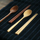 1set Tableware Wooden with chopsticks Coffee spoon Portable Kitchen Essentials