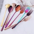 1pc Stainless Steel Spoon /ForkCoffee Portable Tableware Kitchen Gadgets Tools