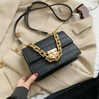 Thick Chain Small PU Leather Flap Bags For Women Crossbody Shoulder Handbags