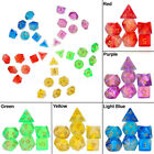 7PCS Jelly Polyhedral Dices Die for Dragons DND RPG MTG Board Games