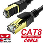 ROUND CAT8 SHIELDED 2000MHZ 40GBPS ETHERNET LAN ULTRA HIGHSPEED CABLE RJ45 LOT