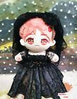 Original Hand Made 20cm Doll Clothes Outfits Black Lace Wedding Dress Suit