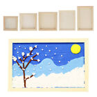 White Blank Artist Wooden Board Frame Oil Acrylic Painting DIY