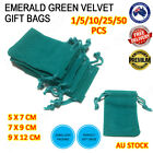 Emerald Green Velvet Pouch Drawstring Bags Wedding Gift Party Jewellery Packing