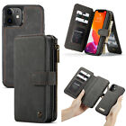 2in1 Detachable PU Leather Magnetic Wallet Case for iPhone 13 12 mini 11 Pro Max