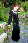 VELVET Medieval Style TUNIC TOP/GOTH/PAGAN/LARP/Long Sleeve/Plain/Rowans Closet