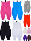 Girls Baggy Winter Colours Harem Pants Leggings NEW