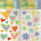 Mrs Grossmans LAYERING Stickers HEARTS or BLOSSOMS 2 SHEETS VALENTINE'S DAY