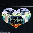 ORIGINAL DESIGN SIAMESE CAT WITCH ART PAINTING KITCHEN SIGN BY SUZANNE LE GOOD