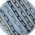 """Chrome, Brass And Antique Finished Chain 1.5""""x17mm Link"""