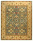Traditional rug colors Light Blue and Ivory hand tufted 100% wool all sizes
