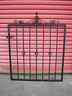 a`Wrought Iron Garden Path Gate with Baskets & Scrolls