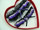 *New Silver Purple Black Wedding Garter Select 30 Charm - GetTheGoodStuff