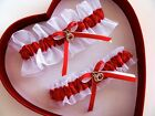 *FREE SHIPPING New Sexy Red White Wedding Garter Prom
