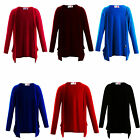 New Girls Plain Long Sleeve Boyfriend Cardigans 2-13 Years