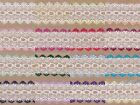 Knitting in lace eyelet Dovecraft 5 metres 35mm wide many colours to choose from