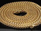 10K 3MM YELLOW & WHITE GOLD FRANCO BOX CHAIN NECKLACE