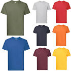 FRUIT OF THE LOOM SUPER PREMIUM T SHIRT - 15 COLOURS S M L XL XXL FREE POSTAGE